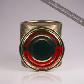 """Falzdeckel / Dosendeckel 99mm für Weißblechdosen ( Wurstdosen ) mit Druck Mettwurst """"eigene Herstellung"""""""