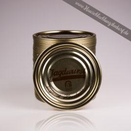 """Falzdeckel / Dosendeckel 99mm für Weißblechdosen ( Wurstdosen ) mit Druck Jagdwurst """"eigene Herstellung"""""""