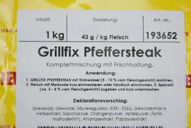 WIBERG® Grillfix Pfeffersteak – Steak Gewürz 1kg