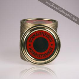 Falzdeckel / Dosendeckel 99mm für Weißblechdosen ( Wurstdosen ) mit Druck Schmalzfleisch