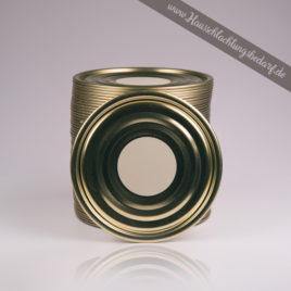 Falzdeckel / Dosendeckel 99mm für Weißblechdosen zum beschriften